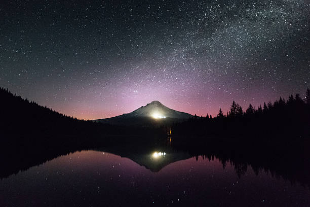Mount Hood in Oregon reflected in the lake