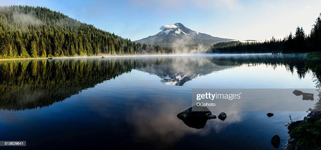 Mount Hood reflected at Trillium Lake, Oregon -XXXL : Stock Photo