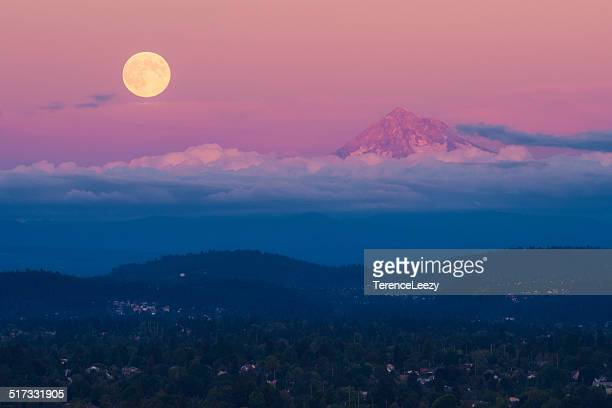 Mount Hood Supermoon