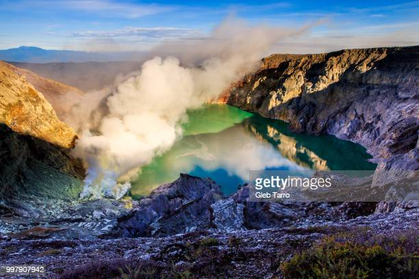 Mount Ijen crater lake, Indonesia