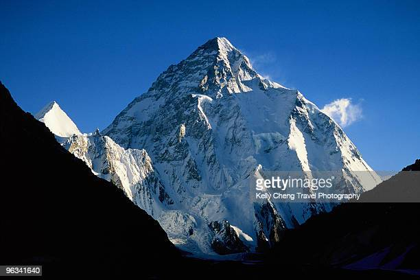 mount k-2 from concordia - k2 mountain stock pictures, royalty-free photos & images