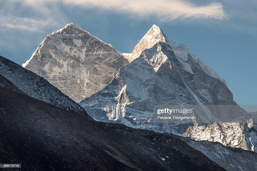 Mount Kangtega Peak, Solukhumbu, Everest Region, Nepal : Stock Photo