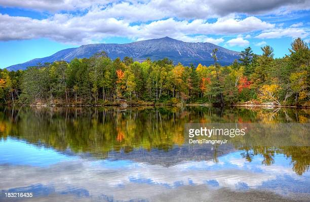 mount katahdin - maine stock pictures, royalty-free photos & images