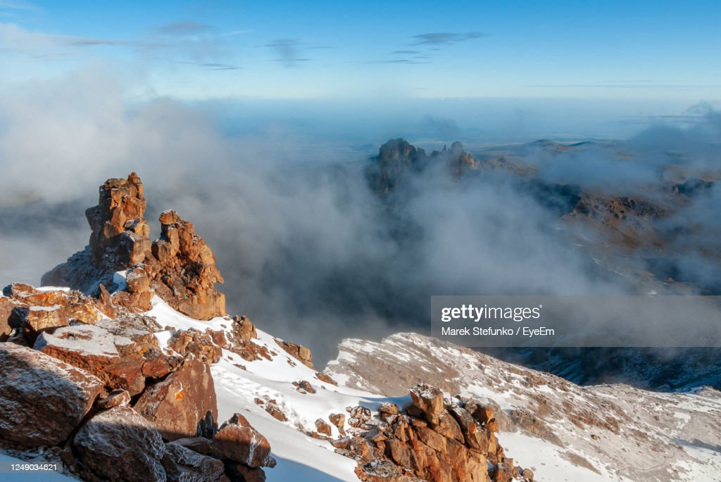 Mount Kenya National  Park From Mountain Summit : Stock Photo
