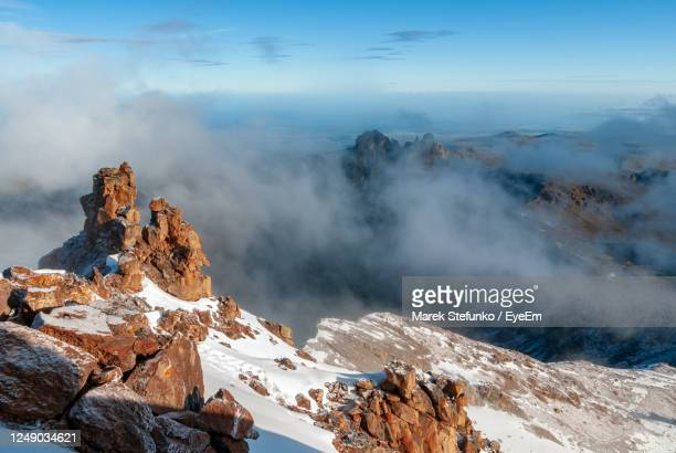 mount kenya national  park from mountain summit - marek stefunko stock pictures, royalty-free photos & images