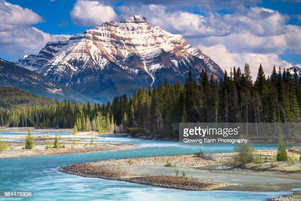 mount kerkeslin - canadian rockies stockfoto's en -beelden
