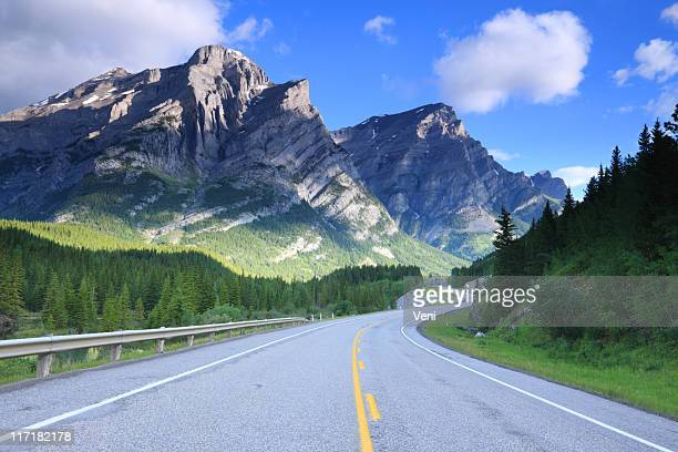 mount kidd, canadian rockies - canadian rockies stock pictures, royalty-free photos & images