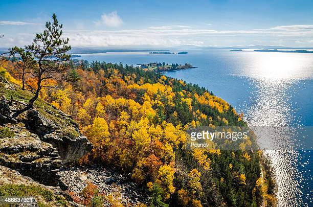 mount kineo - moosehead lake stock photos and pictures