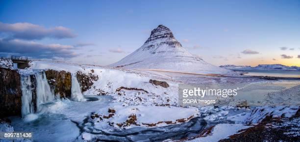 MOUNTAIN GRUNDARFJöRDUR ICELAND Mount Kirkjufell also known as Church Mountain is a 463 m high mountain on the north coast of Iceland's Snæfellsnes...