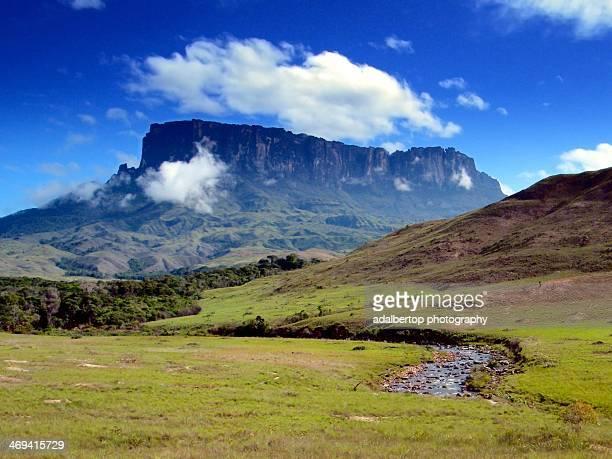 Mount Kukenan and Tek River, Venezuela