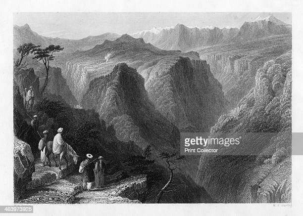 Mount Lebanon above the valley of the Kedesha or Holy Valley Lebanon 1841 From Syria the Holy land and Asia Minor volume I by John Carne published by...