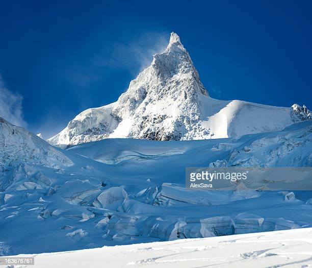 mount mallet peak - mont blanc massif stock photos and pictures