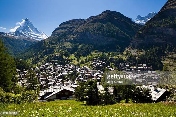 Mount Matterhorn and Zermatt