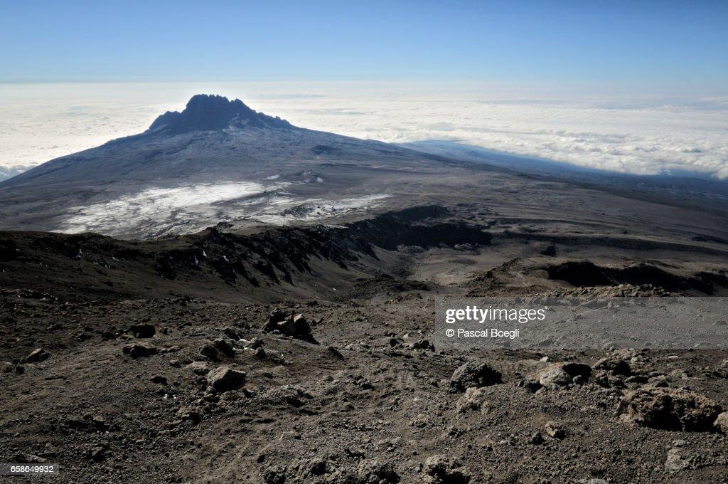 Mount Mawenzi, Kilimanjaro National Park : Stock Photo