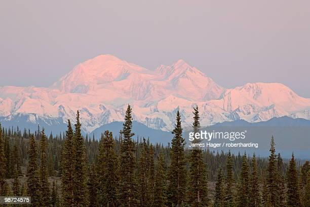 Mount McKinley (Mount Denali), Denali Highway, Alaska, United States of America, North America