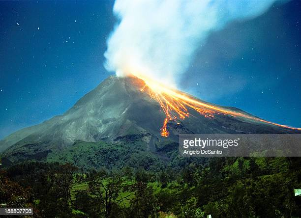 mount merapi - volcano stock photos and pictures