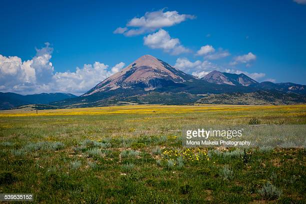 mount mestas, huerfano county, colorado - mount baldy stock photos and pictures