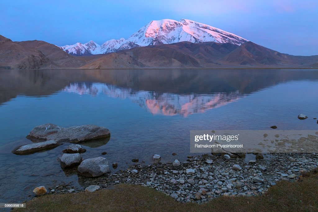 Pamir Mountains Frozen Lake