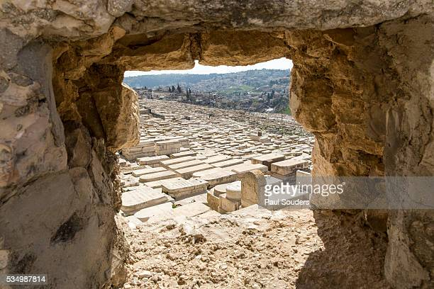 mount of olives cemetery, jerusalem, israel - mount of olives stock pictures, royalty-free photos & images