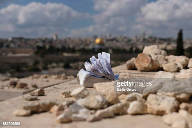 mount of olives in jerusalem - mount of olives stock pictures, royalty-free photos & images
