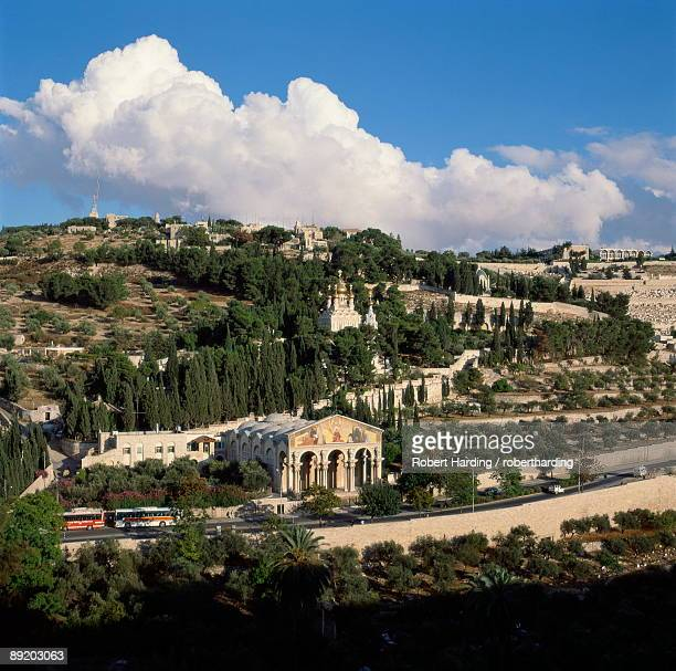 mount of olives, jerusalem, israel, middle east - mount of olives stock photos and pictures