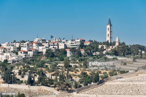 mount of olives - mount of olives stock photos and pictures