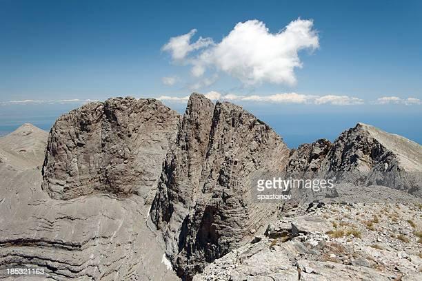 monte olimpo-home of the gods olimpica - mitologia greca foto e immagini stock