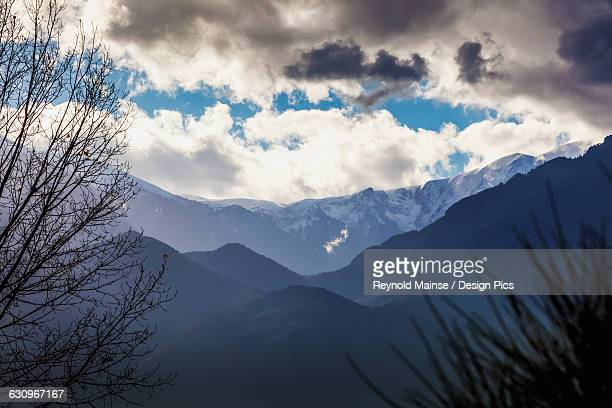 Mount Olympus, the highest mountain in Greece, located in the Olympus Range on the border between Thessaly and Macedonia