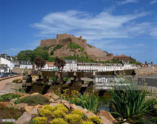 Mount Orgueil Castle above Gorey, Jersey, Channel Islands, United Kingdom, Europe