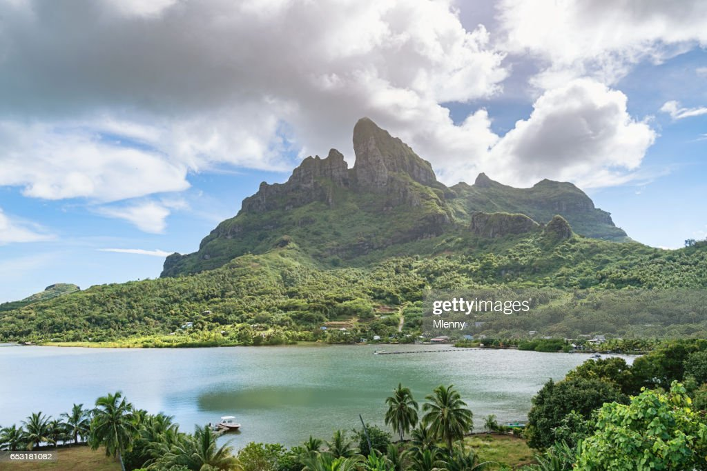 Mount Pahia Bora Bora Island French Polynesia : Stock Photo