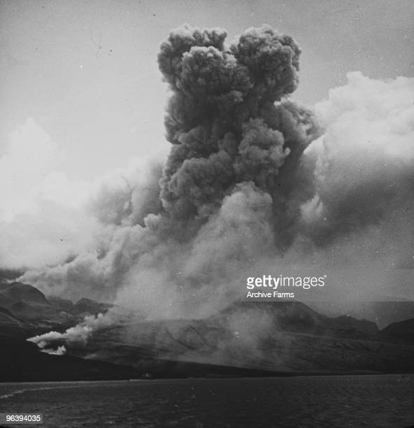 Mount Pelee volcano erupts and kills 30000 people on May 8 1902 at St Pierre Martinique