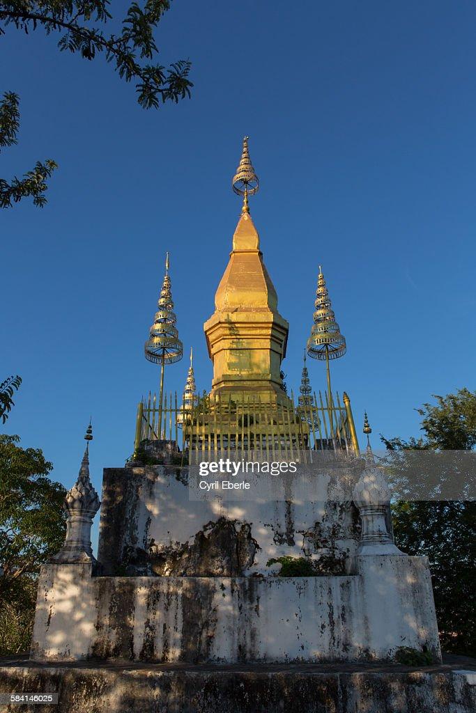 Mount Phousi Luang Prabang : Stock Photo
