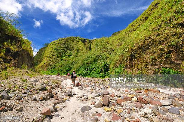 mount pinatubo trek - mt pinatubo stock photos and pictures