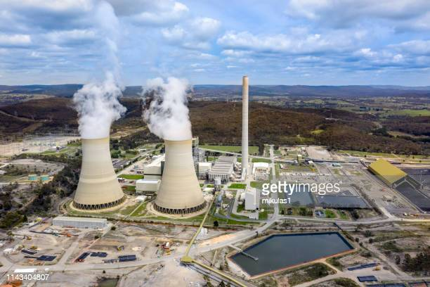 mount piper power station - coal fired power station stock pictures, royalty-free photos & images