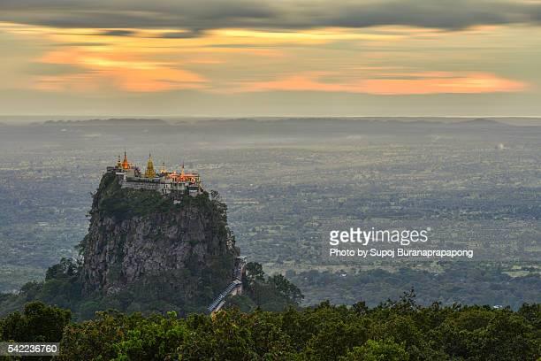 Mount Popa the mystery mountain, Myanmar.
