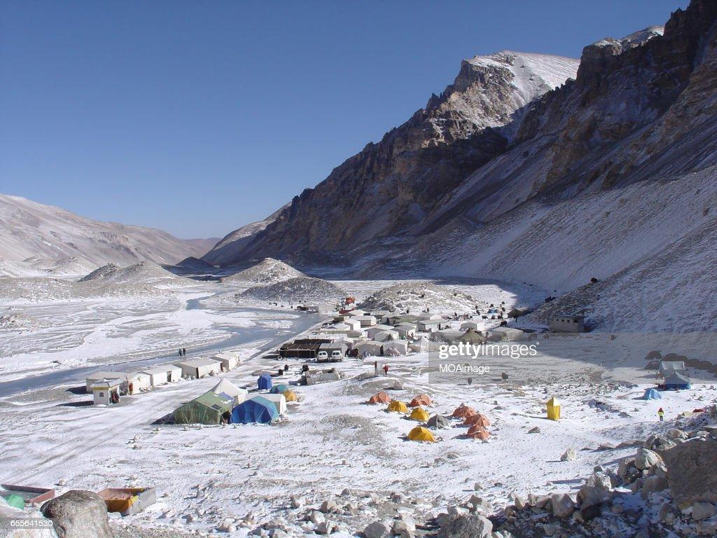 Mount Qomolangma : Stock Photo