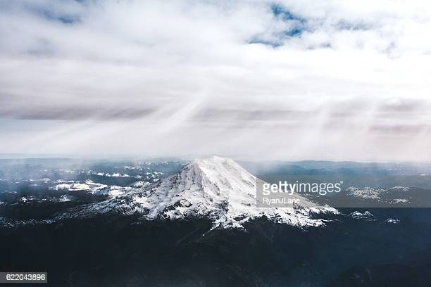 Mount Rainer From the Air