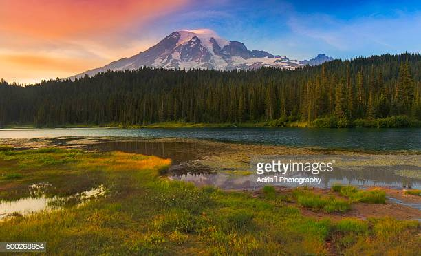 Mount Rainier during sunset