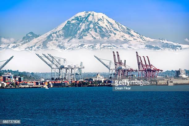 Mount Rainier Overlooking Elliot Bay