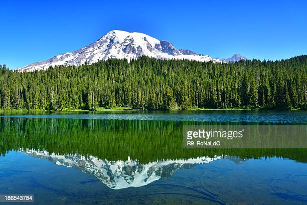 Mount Rainier with reflection lake