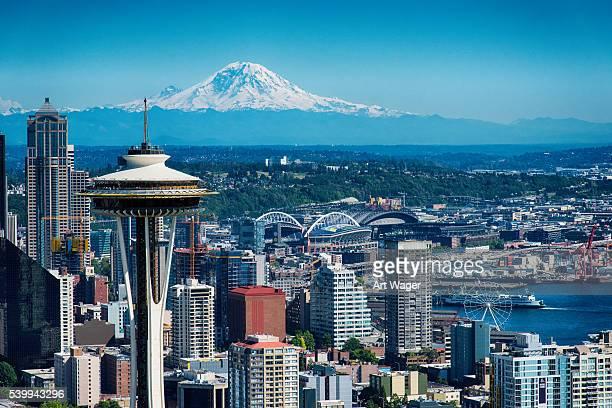 Mount Ranier Beyond the Seattle Skyline