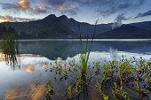 mount rinjani reflection lake lombok west
