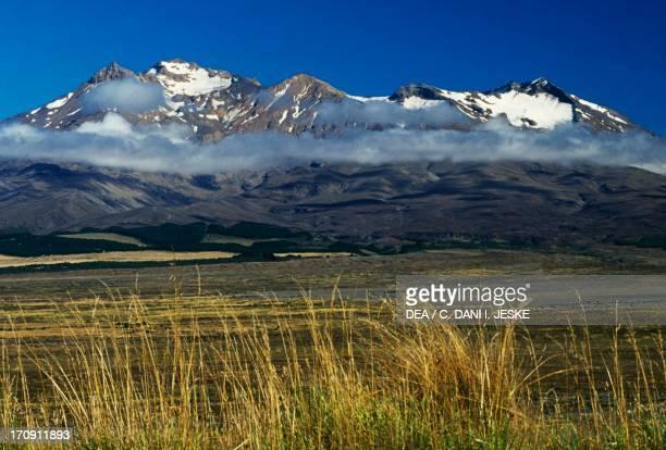 Mount Ruapehu Central Plateau Tongariro National Park North Island New Zealand