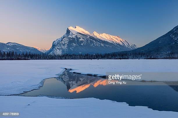 Mount Rundle at sunset
