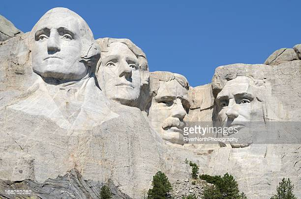 mount rushmore national monument - founding fathers stock photos and pictures