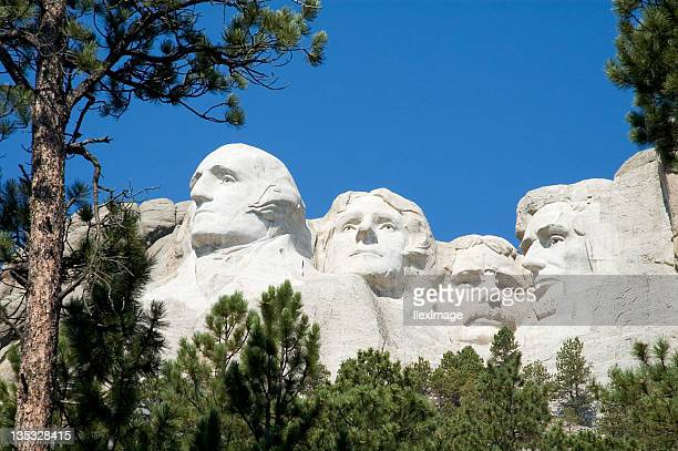 Mount Rushmore with natural frame