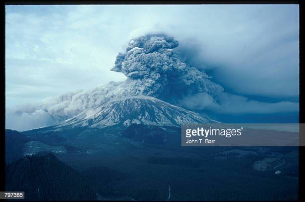 Mount Saint Helens erupts May 18 1980 in Washington State The natural occurrence blew a mushroom cloud of ash thousands of miles into the air that...