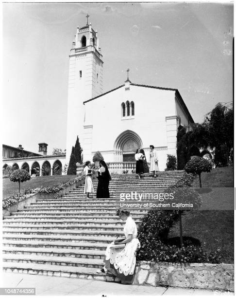 Mount Saint Mary's College seminar 19 May 1952 Maureen Nally AlhambraBarbara SelnaGloria DayAnne Freese Los AngelesPat Perram Los AngelesBarbara...