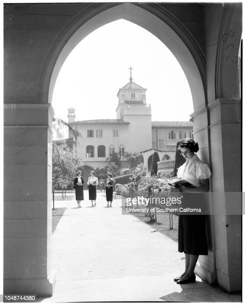 Mount Saint Mary's College seminar 19 May 1952 Maureen Nally AlhambraBarbara SelnaGloria DayAnne Freese Los AngelesPat Perram Los AngelesBarbara...