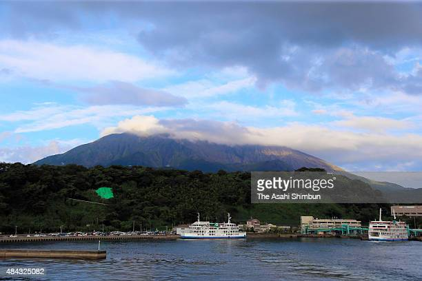 Mount Sakurajima is seen on August 17 2015 in Kagoshima Japan Residents of parts of Kagoshima city have evacuated as the Japan Meteorological Agency...